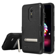 Military Grade Certified TUFF Hybrid Armor Case with Stand for LG K30 - Black