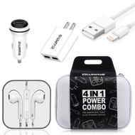 4-IN-1 Ultimate Lightning Accessory Bundle Charging Kit - White
