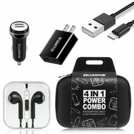 4-IN-1 Ultimate Lightning Accessory Bundle Charging Kit - Black