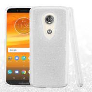 Full Glitter Hybrid Protective Case for Motorola Moto E5 Plus - Silver