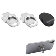 Smart Loop Universal Smartphone Holder & Stand with Hook Mount - Flower Silver Twin Pack