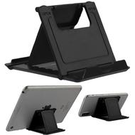 Adjustable Desktop Folding Stand for Tablet and Smartphone - Black