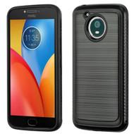 Brushed Multi-Layer Hybrid Armor Case for Motorola Moto E4 Plus- Black