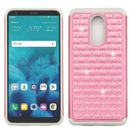 TotalDefense Diamond Hybrid Case for LG Stylo 4 - Pearl Pink Grey