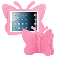 Kids Friendly Butterfly Shock Proof Case with Adjustable Wings for iPad 2, iPad 3 and iPad 4th Generation - Pink