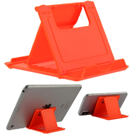 Adjustable Desktop Folding Stand for Tablet and Smartphone - Orange