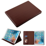 Book-Style Leather Folio Case for iPad Pro 12.9 inch (1st and 2nd Generation) - Brown
