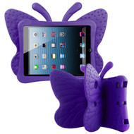 Kids Friendly Butterfly Shock Proof Case with Adjustable Wings for iPad Mini 1 / 2 / 3 / 4th Generation - Purple