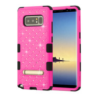 Military Grade Certified TUFF Diamond Hybrid Armor Case with Stand for Samsung Galaxy Note 8 - Hot Pink