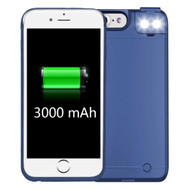 Smart Power Bank Battery Case 3000mAh with Selfie LED Light for iPhone 8 / 7 / 6S / 6 - Blue