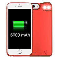 *Sale* Smart Power Bank Battery Case 6000mAh with Selfie LED Light for iPhone 8 Plus / 7 Plus / 6S Plus / 6 Plus - Red