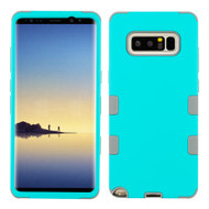 Military Grade Certified TUFF Hybrid Armor Case for Samsung Galaxy Note 8 - Teal Green Iron Grey