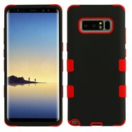Military Grade Certified TUFF Hybrid Armor Case for Samsung Galaxy Note 8 - Black Red 092