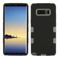 Military Grade Certified TUFF Hybrid Armor Case for Samsung Galaxy Note 8 - Black Grey 093