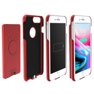 2-IN-1 Smart Battery Case 4000mAh with Removable Power Bank for iPhone 8 / 7 / 6S / 6 - Red