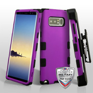 Military Grade Certified TUFF Hybrid Armor Case with Holster for Samsung Galaxy Note 8 - Purple