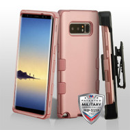 Military Grade Certified TUFF Hybrid Armor Case with Holster for Samsung Galaxy Note 8 - Rose Gold 086