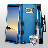 Military Grade Certified TUFF Hybrid Armor Case with Holster for Samsung Galaxy Note 8 - Blue
