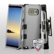 Military Grade Certified TUFF Hybrid Armor Case with Holster for Samsung Galaxy Note 8 - Grey