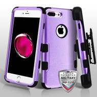 Military Grade Certified TUFF Hybrid Armor Case with Holster for iPhone 8 Plus / 7 Plus - Purple