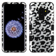 Military Grade Certified TUFF Image Hybrid Armor Case for Samsung Galaxy S9 Plus - Leopard Silver