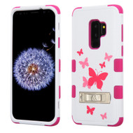 Military Grade Certified TUFF Image Hybrid Armor Case with Stand for Samsung Galaxy S9 Plus - Butterfly Dancing