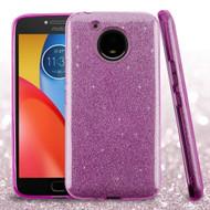 Full Glitter Hybrid Protective Case for Motorola Moto E4 Plus - Purple