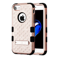 Military Grade Certified TUFF Diamond Hybrid Armor Case with Stand for iPhone 8 / 7 / 6S / 6 - Rose Gold