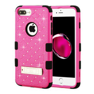 Military Grade Certified TUFF Diamond Hybrid Case with Stand for iPhone 8 Plus / 7 Plus / 6S Plus / 6 Plus - Hot Pink