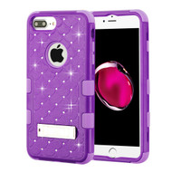Military Grade Certified TUFF Diamond Hybrid Case with Stand for iPhone 8 Plus / 7 Plus / 6S Plus / 6 Plus - Purple 262