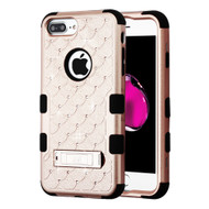 Military Grade Certified TUFF Diamond Hybrid Case with Stand for iPhone 8 Plus / 7 Plus / 6S Plus / 6 Plus - Rose Gold