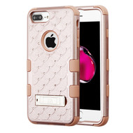 Military Grade TUFF Diamond Hybrid Armor Case with Stand for iPhone 8 Plus / 7 Plus / 6S Plus / 6 Plus - Rose Gold 403