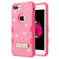 Military Grade Certified TUFF Diamond Hybrid Armor Case with Stand for iPhone 8 Plus / 7 Plus / 6S Plus / 6 Plus - Pink