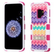 Military Grade Certified TUFF Hybrid Armor Image Case with Stand for Samsung Galaxy S9 - Camo Wave