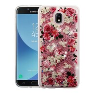 Quicksand Glitter Transparent Case for Samsung Galaxy J7 (2018) - European Rose