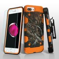Military Grade Storm Tank Case + Holster + Tempered Glass for iPhone 8 Plus / 7 Plus / 6S Plus / 6 Plus - Camouflage