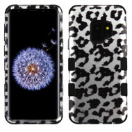 Military Grade Certified TUFF Image Hybrid Armor Case for Samsung Galaxy S9 - Leopard Silver