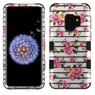 Military Grade Certified TUFF Image Hybrid Armor Case for Samsung Galaxy S9 - Pink Fresh Roses 2D