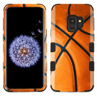 Military Grade Certified TUFF Image Hybrid Armor Case for Samsung Galaxy S9 - Basketball