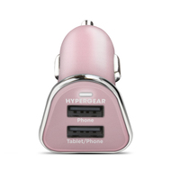 HyperGear High Power Dual USB 2.4A Car Charger - Rose Gold