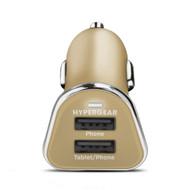 HyperGear High Power Dual USB 2.4A Car Charger - Gold