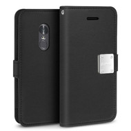 Essential Leather Wallet Case for LG Stylo 4 - Black