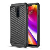 Tough Anti-Shock Hybrid Case for LG G7 ThinQ - Carbon Fiber