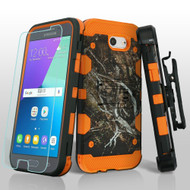 Storm Tank Holster Case + Tempered Glass for Samsung Galaxy J3 (2017) / J3 Emerge / J3 Prime / Amp Prime 2 - Camouflage