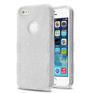 Tuff Full Glitter Hybrid Protective Case for iPhone SE / 5S / 5 - Silver