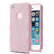 Tuff Full Glitter Hybrid Protective Case for iPhone SE / 5S / 5 - Pink