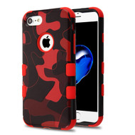 Military Grade Certified TUFF Image Hybrid Armor Case for iPhone 8 / 7 - Camouflage Red