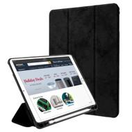 Premium Smart Hybrid Case with Apple Pencil Holder for iPad (2018/2017) / iPad Pro 9.7 / iPad Air 2 / iPad Air - Black