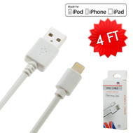 Mybat MFi Lightning Connector to USB Charging and Sync Cable - White