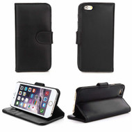 Genuine Leather Executive Wallet Case for iPhone 6 / 6S - Black